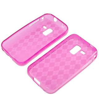 Pink Gel Skin Cover Case +LCD For Samsung Galaxy Attain 4G R920
