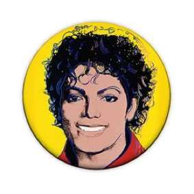 Michael Jackson 1 Pin Button Badge (Warhol Pop Art)