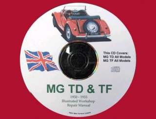 MG TD & TF Workshop Repair Service Manual CD