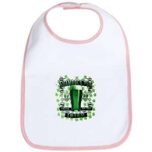 Baby Bib Petal Pink Shamrock Pub Luck of the Irish 1759 St