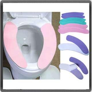Bathroom Toilet Mat Cover Self adhesive Warm & Soft New