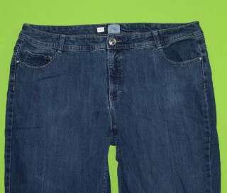 Just My Size 26W Capri Stretch Womens Blue Jeans Denim Pants IB59