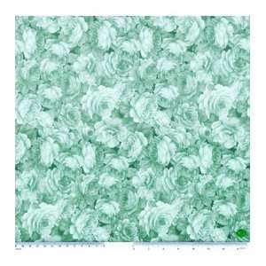 Legacy Studio Cotton Fabric Afternoon Tea Green Rose