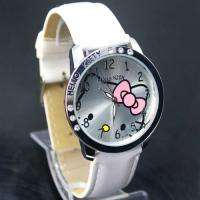 White Color HelloKitty Girls Lady Crafts Quartz Wrist Watch, K1 WT