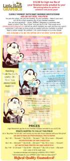Cuddly Monkey Jungle Zoo Dots Baby Shower Invitations