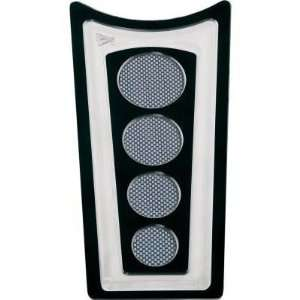 Battistinis Custom Cycles Black Dash Cover with Carbon Fiber Insert 03