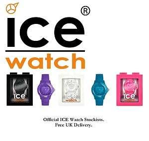 Genuine ICE LOVE Rubber Watch Swarovski Crystals 3D Heart 5 Colours