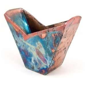 com Art by Aron Handmade Raku Pottery Two Point Vase Home & Kitchen