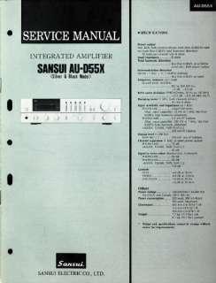 SANSUI SERVICE MANUAL HI FI AMP AUDIO REPAIR PDF cd |