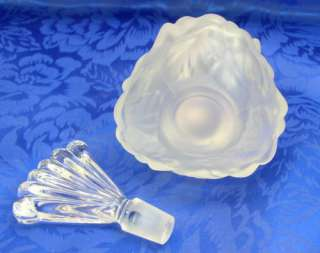Crystal Satin Frosted Rose Glass Perfume Bottle Fan Stopper
