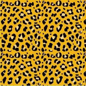 LEOPARD PRINT PATTERN Gold & Black Vinyl Decal Sheets 12x36 Stickers