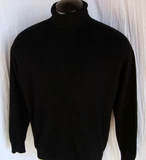 Black ~ Daniel Bishop *100% Cashmere* turtleneck golf sweater ~ mens L