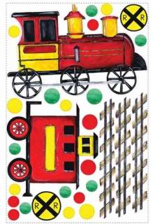 New GIANT TRAIN WALL DECAL MURAL Boys Room Trains Stickers Nursery