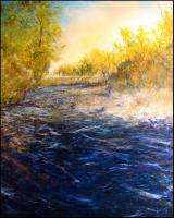 Dave Iles Fall Color on Beaver Creek on Canvas signed Original