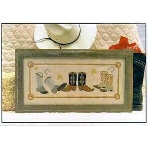 Cowboy Boots   Cross Stitch Pattern Arts, Crafts & Sewing