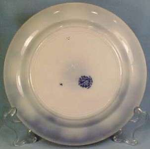 Antique Persian Moss Flow Blue Plate 1891 German Maker A Beauty
