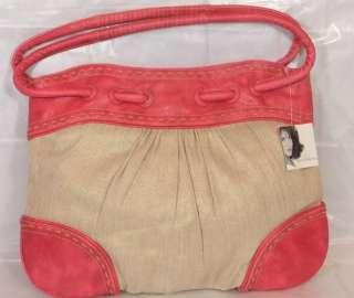 Jaclyn Smith Handbag Riverton Tote Pink Trim Gold Rub