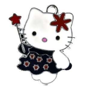 12X DIY Jewelry Making Purple Hello Kitty Fairy Enamel