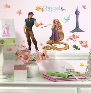 46 New DISNEY TANGLED WALL DECALS Rapunzel Stickers Girls Purple Room