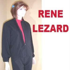 RENE LEZARD GERMANY $500 Black Wool Jacket * Awesome M