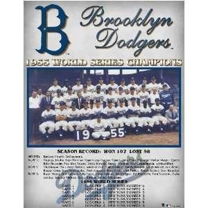 Los Angeles Dodgers    World Series 1955 Brooklyn Dodgers    13 x 16