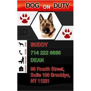 DOG ON DUTY ID Badge   1 Dogs Custom ID Badge   Design#1