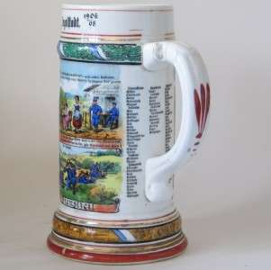 Military Regimental Beer Stein 10.Inf.Regt.Ingolstadt 1906 1908