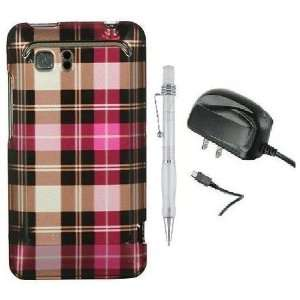 Pink Square Checker   Design Hard Cover Protector Phone