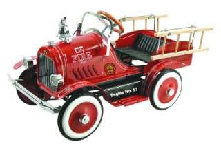 Dexton FIRE TRUCK Red PEDAL CAR Kids Ride On Toy