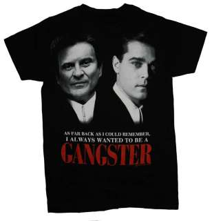 Goodfellas Wanted To Be A Gangster Wise Guys Movie T Shirt Tee