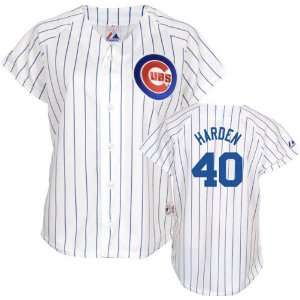 Rich Harden Majestic Replica Chicago Cubs Womens Jersey