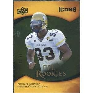 2009 Upper Deck Icons Gold Foil #143 Michael Johnson /99