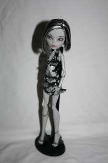 Custom Monster High Frankie Stein Black and White OOAK pretty