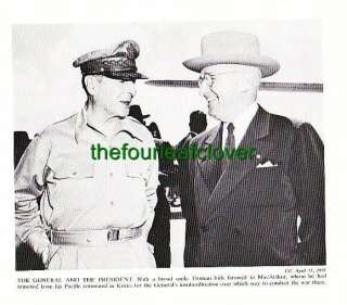 General Douglas MacArthur President Harry Truman Pacific Command