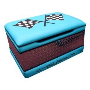 Magical Harmony Kids 16005 Race Cars Toy Box   Blue Home & Kitchen