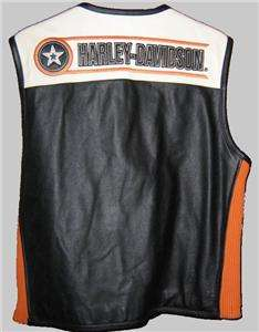 Harley Davidson Leather Vest Rapid City RARE HD #97146 03VM 2XL runs