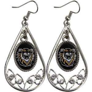 Hays State University Tigers Ladies Tear Drop Crystal Dangle Earrings