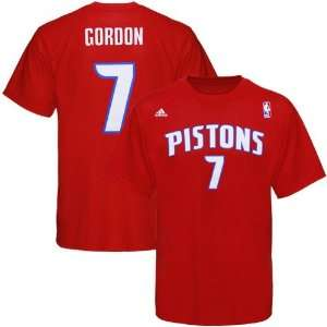 Shirt  Adidas Detroit Pistons #7 Ben Gordon Red Player T Shirt