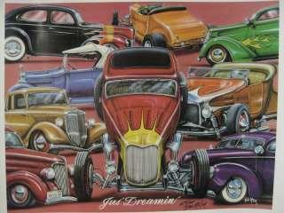 Just Dreamin Bob McCoy Copy Hot Rods Poster