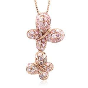 Pink Diamond Pendant Necklace 0.42 carat Diamond Delight Jewelry