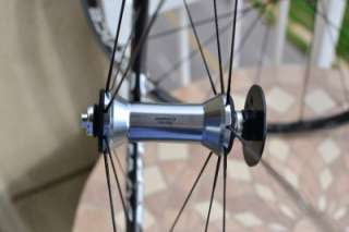 Dura Ace C24 clincher road wheel set NEW front USED rear