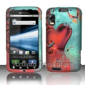 Lovely Heart & Butterfly Protective Hard Rubberized Case