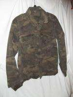 ARIZONA JEANS GREEN CAMO MILITARY STYLE JACKET SIZE MEDIUM NWOT