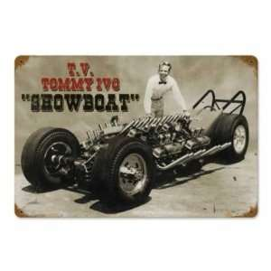 Tommy Ivo Showboat Metal Sign Hot Rod Vintage