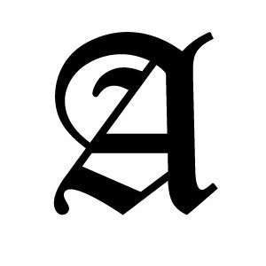 Olde Old English Letter A Vinyl Decal: Everything Else