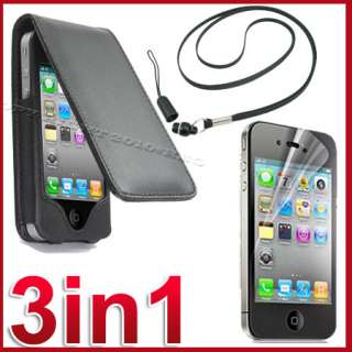 CASE COVER+SCREEN PROTECTOR+LANYARD FOR APPLE IPHONE 4 4S 4TH