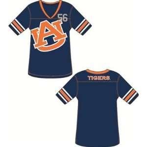Auburn University Tigers AU NCAA Ladies Jersey Tunic T Shirt Medium