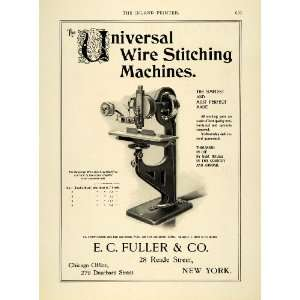 1899 Ad E C Fuller Co Universal Wire Stitching Machine