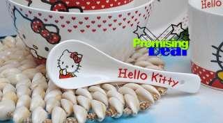 Hello Kitty Porcelain Dining Soup Fruit Bowls Dish Set