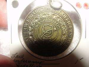 LAW ENFORCEMENT OFFICERS MEMORIAL MEDALLION 2002 COIN